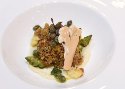 Henley College Coventry Starter - Freekeh, Quinoa and Yeasted Cauliflower, Raisons, Capers and Mint