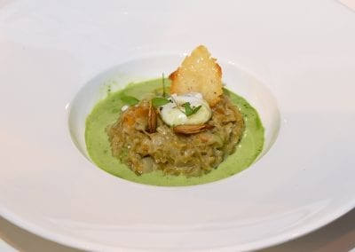 Loughborough College Starter - Pumpkin and freekeh risotto with toasted pumpkin seeds and a parsley jus