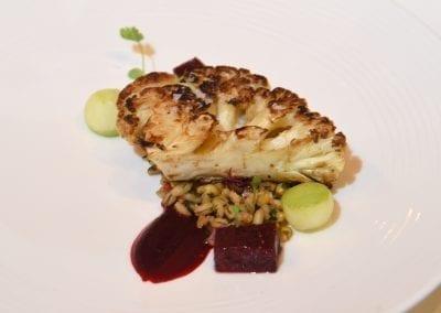 Hopwood Hall Starter - Roast Cauliflower, Spelt Salad, Beetroot and Compressed Apple