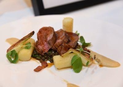 Hopwood Hall Main - Roast Best End of Lamb, Puy Lentils, Roast Onion Puree