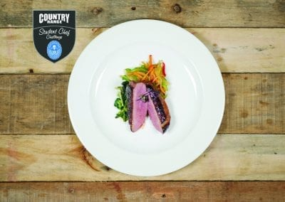 City of Liverpool College Starter - Aromatic Duck With Greens