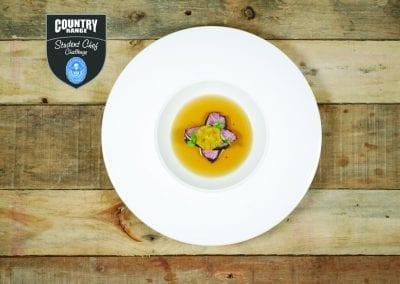 University of Derby Starter - Szechuan Peppercorn Broth, Duck Dumpling, Spiced Wine Duck Breast