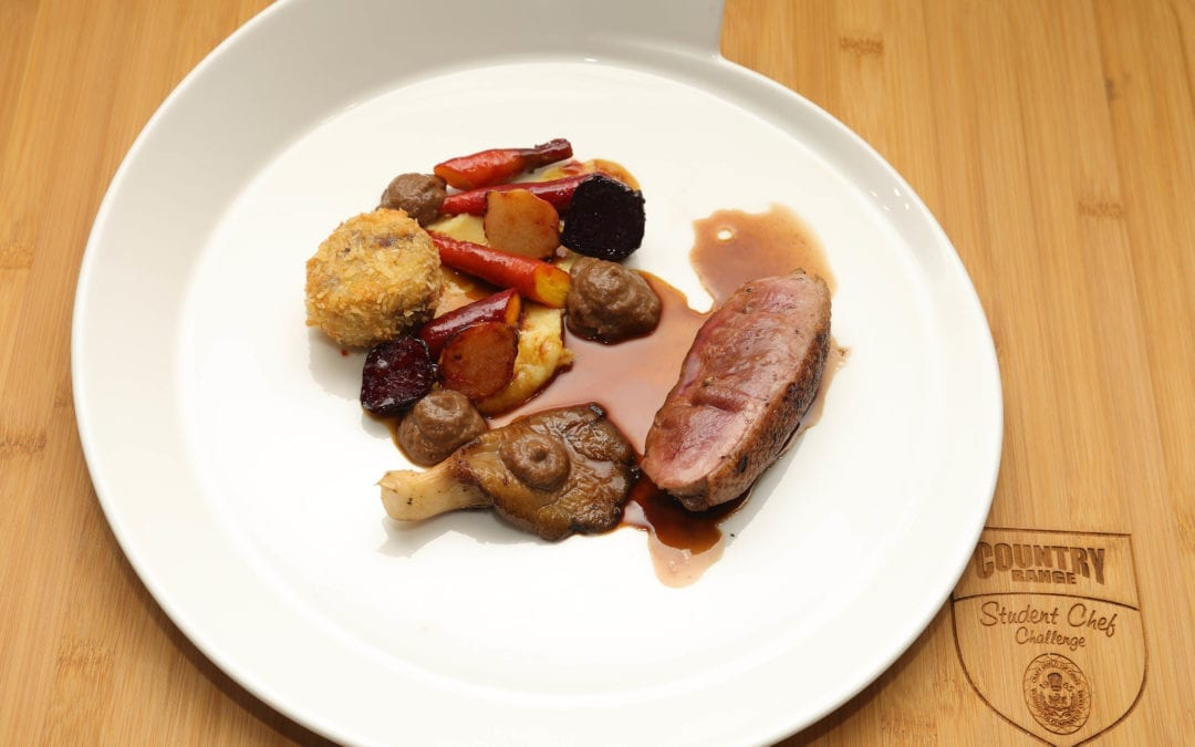 Duck Breast with Duck Croquette